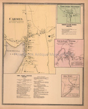 Carmel Towners Station New York Antique Map Beers 1867
