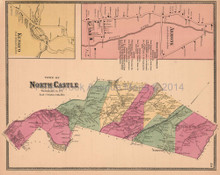 Town of North Castle New York Antique Map Beers 1868
