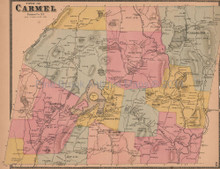 Town of Carmel New York Antique Map Beers 1868