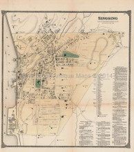 Sing Sing Ossining New York Antique Map Beers 1867