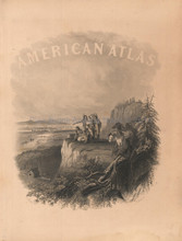American Atlas Front Piece Vintage Johnson 1864