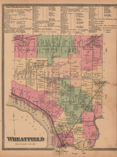 Town of Wheatfield New York Antique Map Beers 1875
