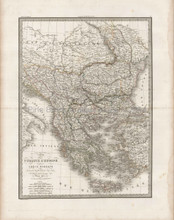 Turkey Europe Antique Map Lapie 1833