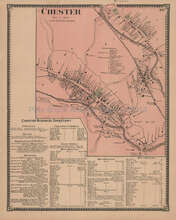 Chester Vermont Vintage Map Beers 1869