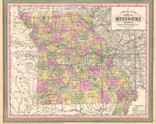 Missouri Vintage Map DeSilver 1855