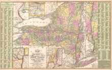 New York Vintage Map DeSilver 1855