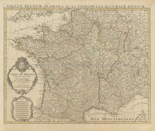 France Vintage Map Covens Mortier 1745