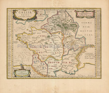 Ancient France Vintage Map Jansson 1650