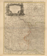Southern France Vintage Map Covens Mortier 1745