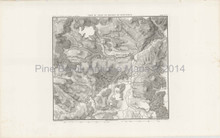 Antique Map Battle Messkirch Thiers 1864