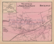 Far Rockaway Westville New York Vintage Map Beers 1873