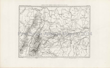 Antique Map Rhine River Thiers 1864