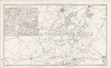 Antique Map Brussels Ligny Belgium Thiers 1864
