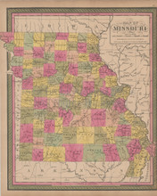 Missouri Vintage Map Mitchell 1847