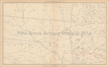 Kansas Oklahoma Civil War Antique Map 1893