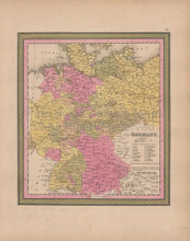 Germany Vintage Map Mitchell 1847