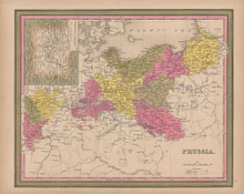 Prussia Vintage Map Mitchell 1847