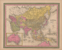 Asia Vintage Map Mitchell 1847
