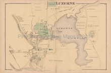 Luzerne NY Antique Map Beers 1876