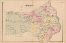 Thurman Horicon NY Antique Map Beers 1876