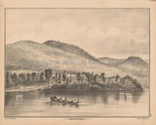 Crosbyside Lake George NY Antique Print Beers 1876