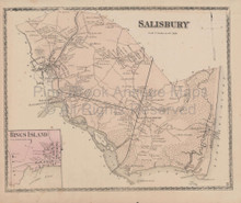 Salisbury Massachusetts Vintage Map Beers 1872