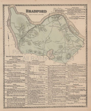 Bedford Massachusetts Vintage Map Beers 1872