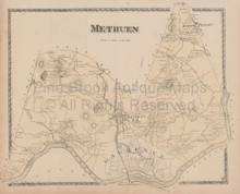 Methuen Massachusetts Vintage Map Beers 1872