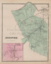 Andover Frye Village Massachusetts Vintage Map Beers 1872