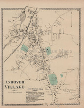 Andover Massachusetts Vintage Map Beers 1872