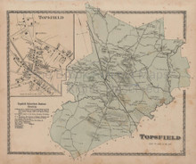 Topsfield Massachusetts Vintage Map Beers 1872