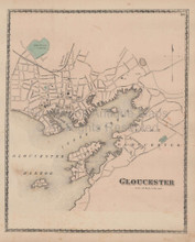 Gloucester Massachusetts Vintage Map Beers 1872