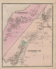 Annisquam Lanesville Massachusetts Vintage Map Beers 1872