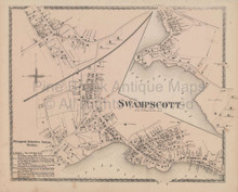 Swampscott Massachusetts Vintage Map Beers 1872