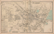 Peabody Massachusetts Vintage Map Beers 1872
