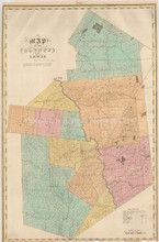 Lewis County New York Antique Map Burr 1832