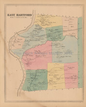 East Hartford Connecticut Antique Map Baker Tilden 1869