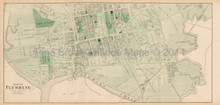 North Flushing New York Antique Map Beers 1873