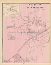 Far Rockaway Westville New York Antique Map Beers 1873