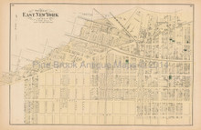 Gravesend Fort Hamilton New York Antique Map Beers 1873