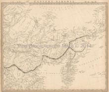 Eastern Siberia Antique Map SDUK 1838