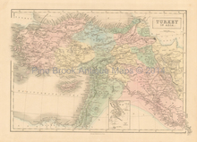 Turkey Asia Antique Map Black 1851