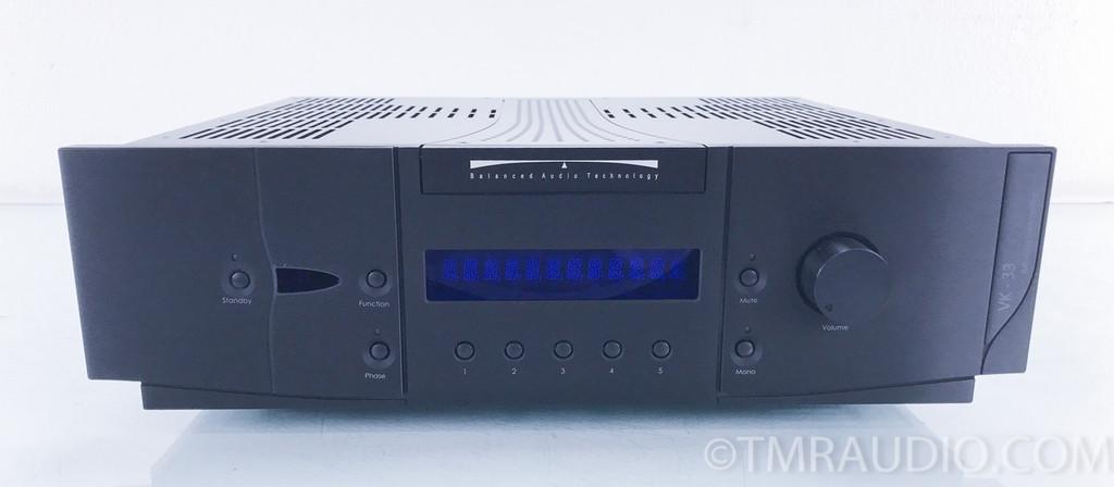 Balanced Audio Technology VK-33 Stereo Tube Preamplifier; BAT