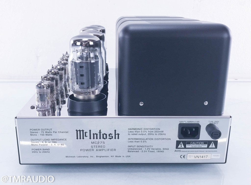 McIntosh MC275 Mk IV Stereo Tube Amplifier; Factory Refreshed; New Tubes