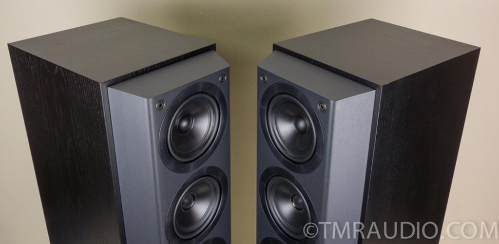 kef 105 speakers. kef 105/3 reference series speakers; black - mint! 105 speakers