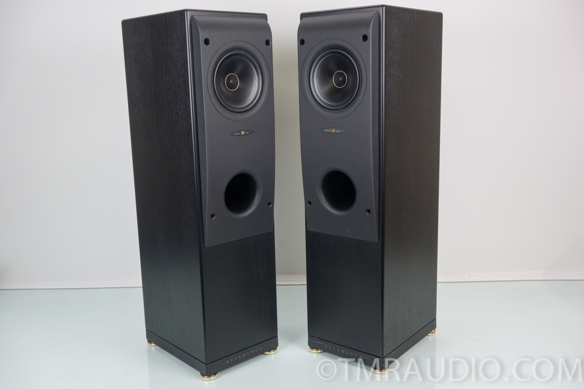 kef reference speakers. kef reference series model one speakers; near mint pair in factory box speakers