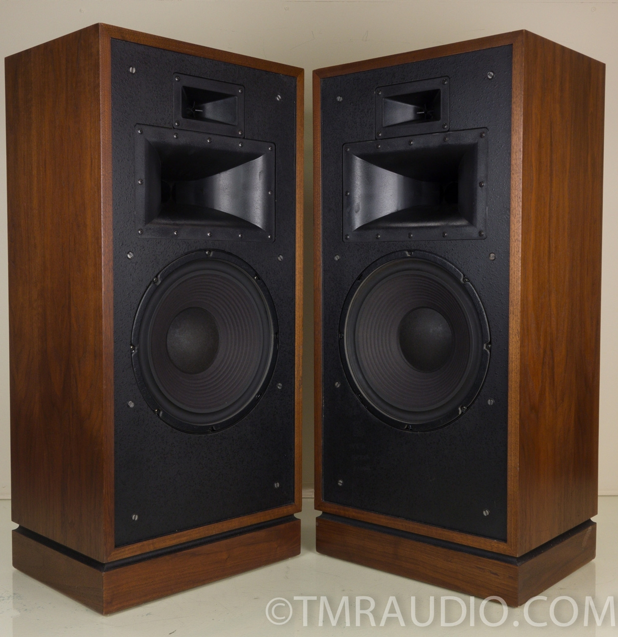 klipsch vintage speakers. klipsch forte ii walnut vintage speakers; bob crites crossover upgrade speakers