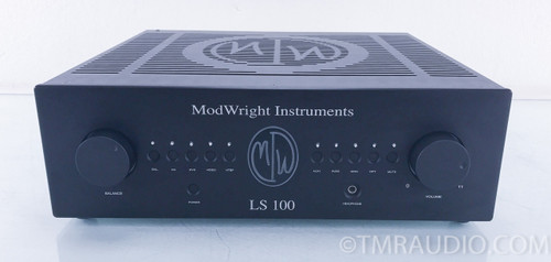 Modwright LS 100 Tube Stereo Preamplifier w/Phono Stage Upgrade; Black