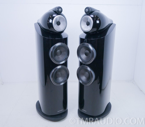 B&W 803 D3 Floorstanding Speakers; Gloss Black Pair