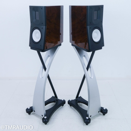 Raidho C1.1 Bookshelf Speakers; Walnut Pair w/ Stands